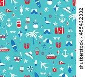 vacation doodles vector... | Shutterstock .eps vector #455432332