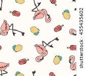 tropical summer print for t... | Shutterstock .eps vector #455435602