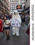 Small photo of Bear Mascot / Bear mascot at Republican National Convention / Cleveland OH, USA - July 18, 2016: