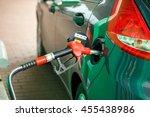car refueling on a petrol... | Shutterstock . vector #455438986