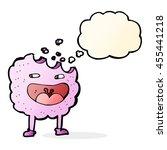 cookie cartoon character with... | Shutterstock . vector #455441218