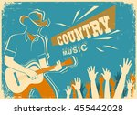 country music festival... | Shutterstock .eps vector #455442028