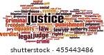 justice word cloud concept.... | Shutterstock .eps vector #455443486