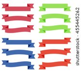set of  colorful empty ribbons... | Shutterstock .eps vector #455445262