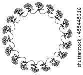 silhouette round frame. vector... | Shutterstock .eps vector #455445316