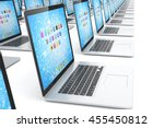 many  laptop on white... | Shutterstock . vector #455450812