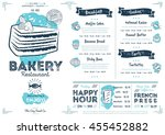 bakery menu design and bakery... | Shutterstock .eps vector #455452882