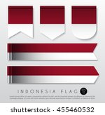 set of world flag ribbon... | Shutterstock .eps vector #455460532