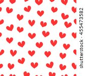 red hearts.  seamless vector... | Shutterstock .eps vector #455473582