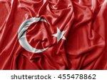 Ruffled Waving Turkey Flag