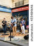 Small photo of PARIS, FRANCE - JUNE 21, 2014: Celebration of World Music Day in Latin Quarter in Paris. This festival, created in 1981, encourage amateur and professional musicians to perform in the streets.