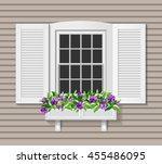 shutter window vector... | Shutterstock .eps vector #455486095