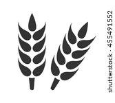 ears of wheat. simple flat logo ... | Shutterstock .eps vector #455491552