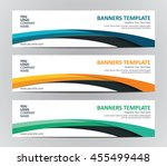 abstract website banner design... | Shutterstock .eps vector #455499448