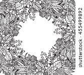 hand drawn artistic ethnic... | Shutterstock .eps vector #455499892