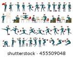 large vector set of businessman ...   Shutterstock .eps vector #455509048