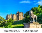 alnwick castle  a castle and... | Shutterstock . vector #455520802