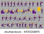 business solution. business... | Shutterstock .eps vector #455520895