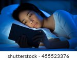 asian women are using the... | Shutterstock . vector #455523376