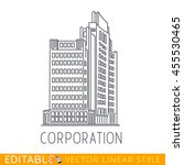 corporation. business building... | Shutterstock .eps vector #455530465