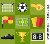 vector set of football icons.... | Shutterstock .eps vector #455532466