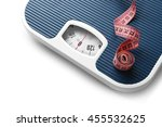 bathroom scale with measuring... | Shutterstock . vector #455532625