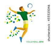 volleyball player in the colors ... | Shutterstock .eps vector #455535046