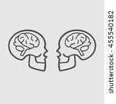 human brain in skull vector... | Shutterstock .eps vector #455540182