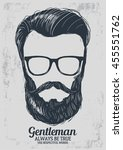 hipster hair  beard and glasses ...   Shutterstock .eps vector #455551762