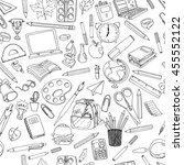 colorful school  pattern.... | Shutterstock .eps vector #455552122