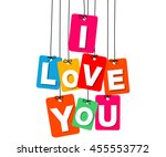 vector colorful hanging... | Shutterstock .eps vector #455553772
