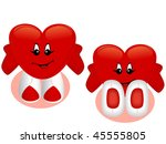 toy's hearts | Shutterstock .eps vector #45555805