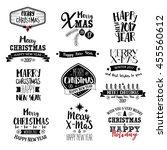 merry christmas lettering... | Shutterstock .eps vector #455560612