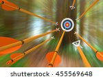 Barrage Of Arrows Flying To An...