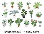 home plants set | Shutterstock . vector #455575396