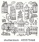 house drawing set | Shutterstock . vector #455575468