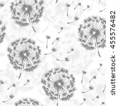 seamless dandelion pattern ... | Shutterstock .eps vector #455576482