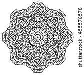 mandala for painting. vector... | Shutterstock .eps vector #455576578