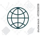 the globe icon.  | Shutterstock .eps vector #455583058