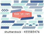navy blue and pastel turquoise... | Shutterstock .eps vector #455585476