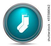 socks icon. internet button on... | Shutterstock . vector #455588062