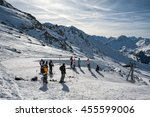 4 valley  switzerland  ... | Shutterstock . vector #455599006