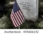 United States Flag On Grave...