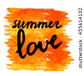 summer love text on artistic... | Shutterstock .eps vector #455614132