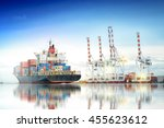 logistics and transportation of ... | Shutterstock . vector #455623612