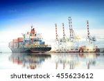 logistics and transportation of ...   Shutterstock . vector #455623612