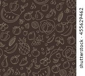 seamless blackboard style... | Shutterstock .eps vector #455629462