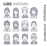 cute avatars. characters of... | Shutterstock .eps vector #455630416