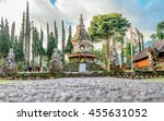 buddhist stupa in garden of... | Shutterstock . vector #455631052