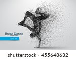 silhouette of a break dancer... | Shutterstock .eps vector #455648632